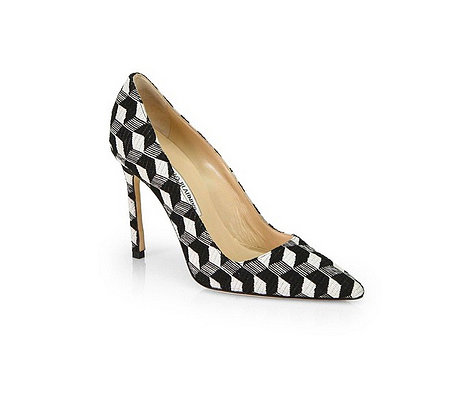 Our love for Manolo Blahnik simply cannot be overstated, and we're all over the latest iteration of the brand's classic heels. The BB Graphic Print Canvas Pumps ($655) pack a punch that can't be missed — and that's largely thanks to their geometric black and white pattern. — Justin Fenner, assistant editor