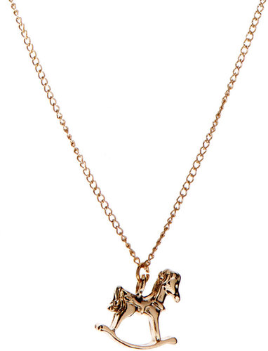 And Mary Rocking Horse Necklace
