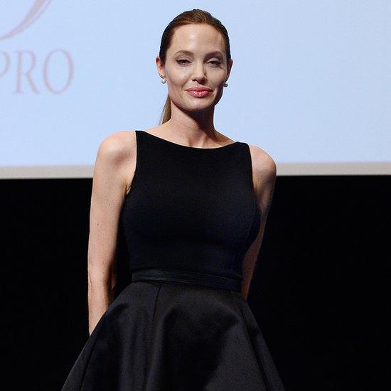 Angelina Jolie Dress at World War Z Tokyo Premiere