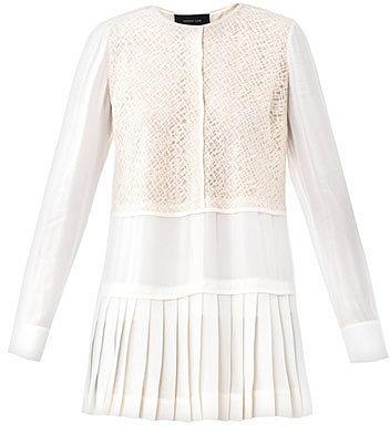 Derek Lam Geometric lace blouse