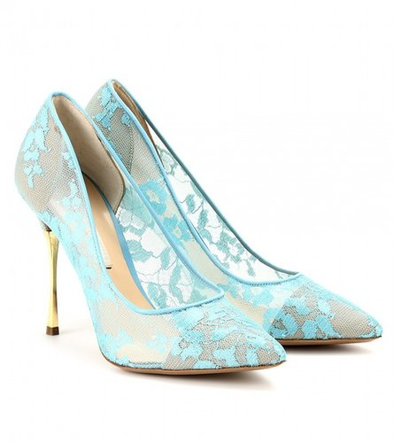 Nicholas Kirkwood LACE PUMPS WITH METAL STILETTO HEEL