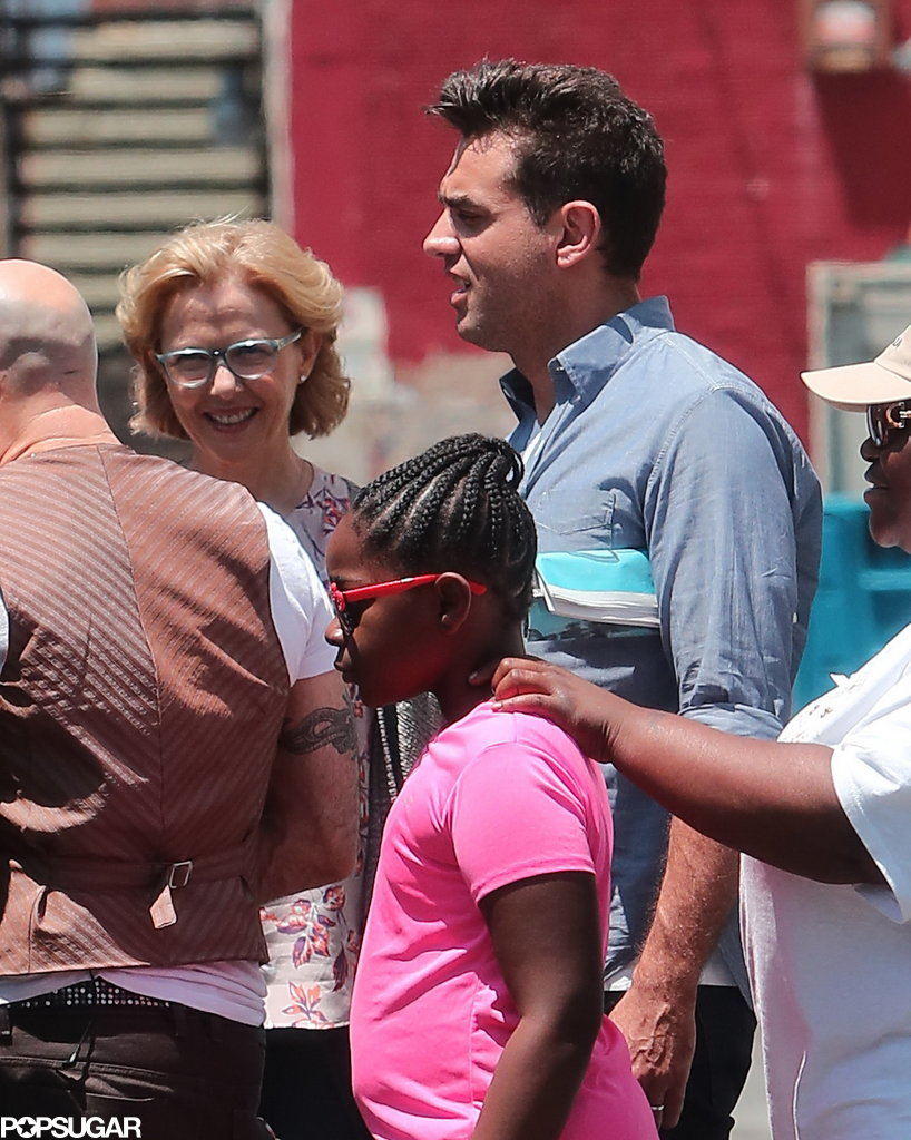 Bobby Cannavale and Annette Bening filmed scenes on the set of Imagine in LA.