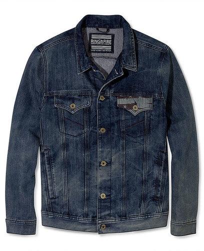 Ring of Fire Coat, Americana Denim Jacket