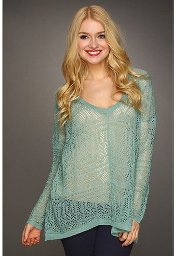 Free People - Waterfalls Pullover (Sea Green) - Apparel