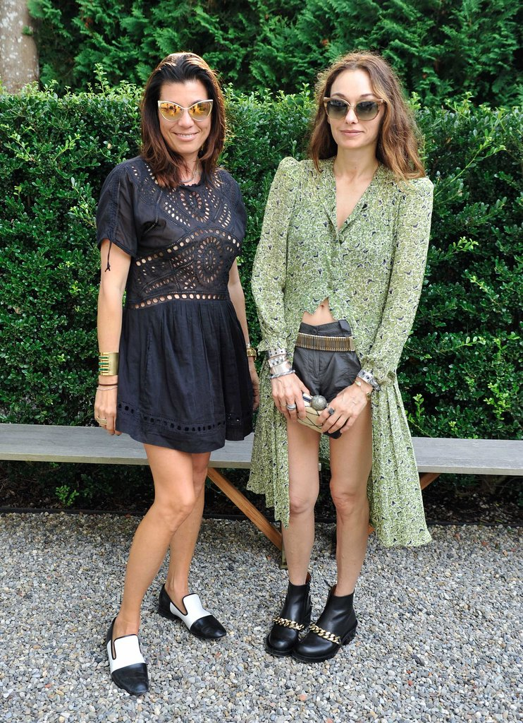 Wearing coordinating cat-eye shades, Kelly Wearstler joined Natasha Esch in Sag Harbor for her book signing.