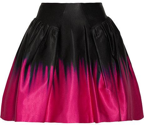 Milly Karina dégradé satin skirt
