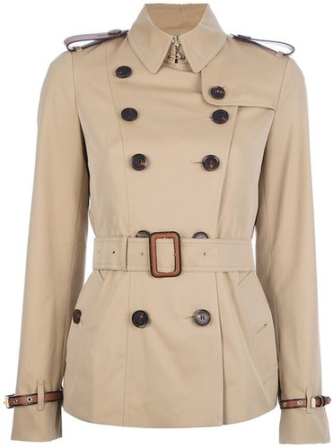 Burberry Brit short belted trench coat