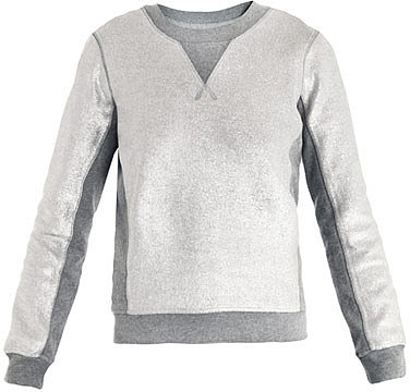 Marc by Marc Jacobs Metallic panelled sweatshirt