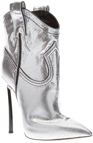 Casadei metallic ankle boot
