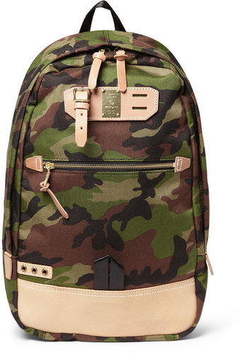 Master-Piece Surpass Camouflage Canvas and Leather Backpack