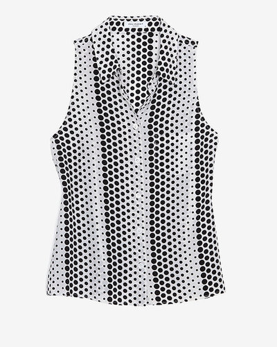 Equipment 20th Anniversary Capsule Collection Exclusive Mina Dot Print Sleeveless Blouse