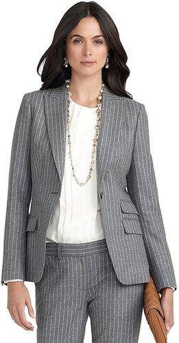One-Button Pinstripe Jacket