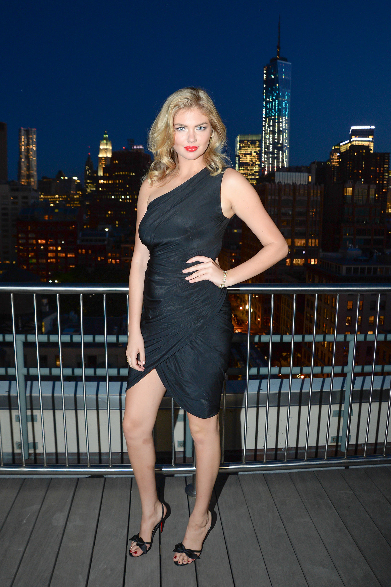 Kate Upton unveiled her David Yurman campaign at the label's annual rooftop soiree.