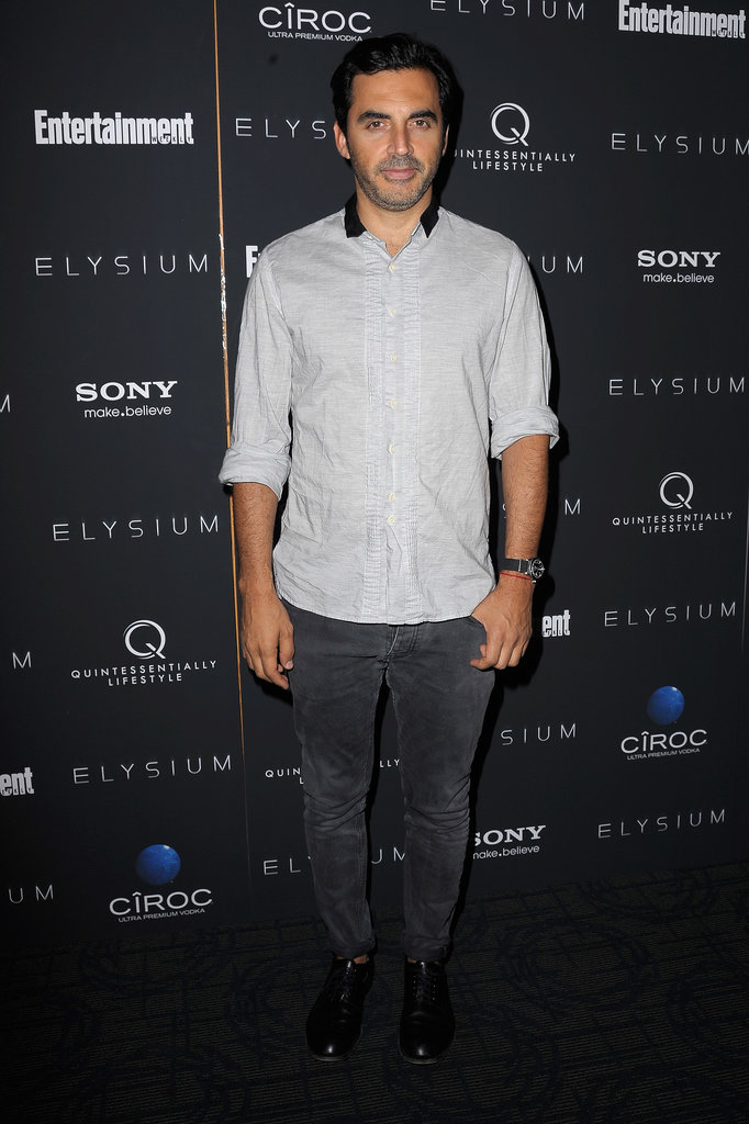 Yigal Azrouël hit the black carpet for Elysium in dark denim.