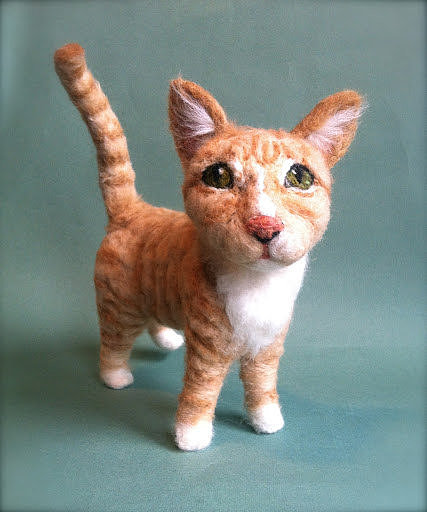 Is 2D too boring for you? Get your pet made in three dimensions with these wool figurines ($385).