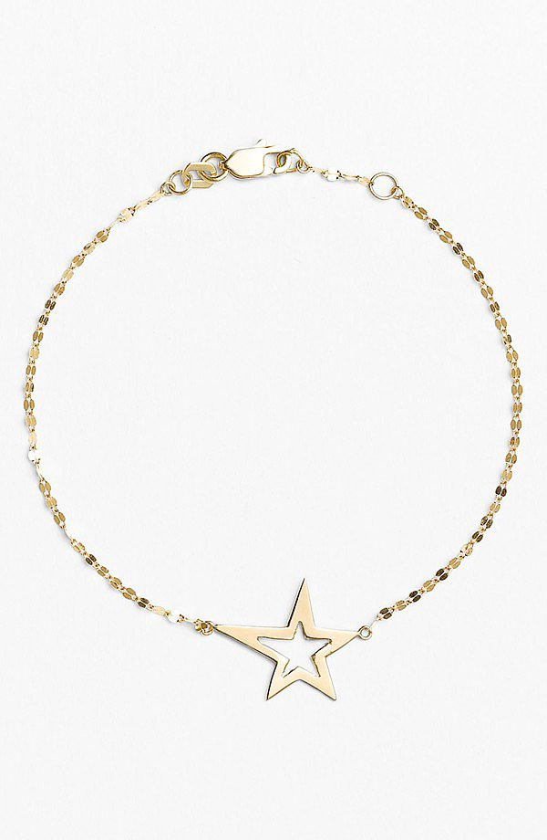 Be a shopping star, truly, with this dainty Lana Jewelry bracelet ($236, originally $350).