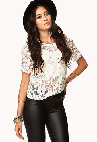 FOREVER 21 Sweet Stud Lace Top