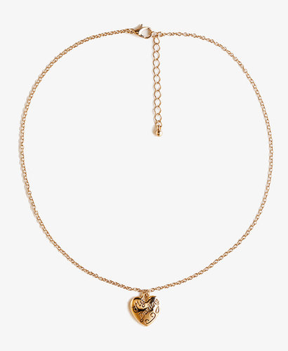 FOREVER 21 My Darling Heart Necklace