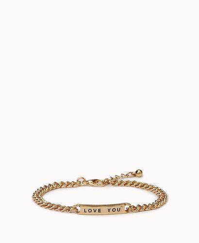 FOREVER 21 I Love You ID Bracelet