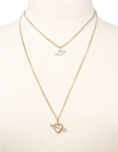 Cupid Hearts Layered Necklace
