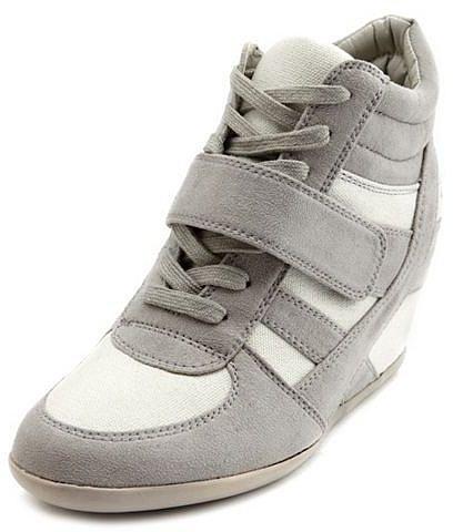 Sueded Hi-Top Wedge Sneaker