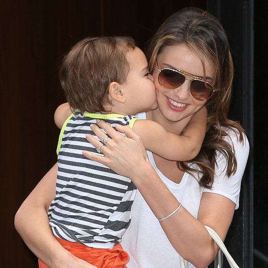 Miranda Kerr Gets a Kiss From Flynn Bloom | Pictures