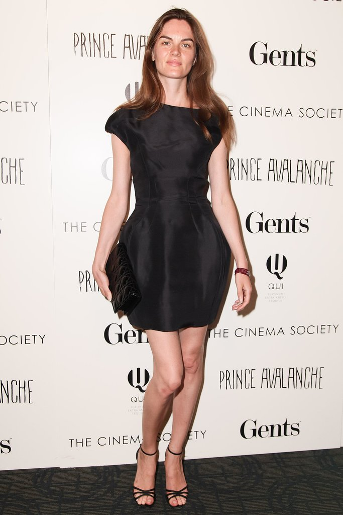 Anouck Lepere walked the black carpet for The Cinema Society screening of Prince Avalanche.