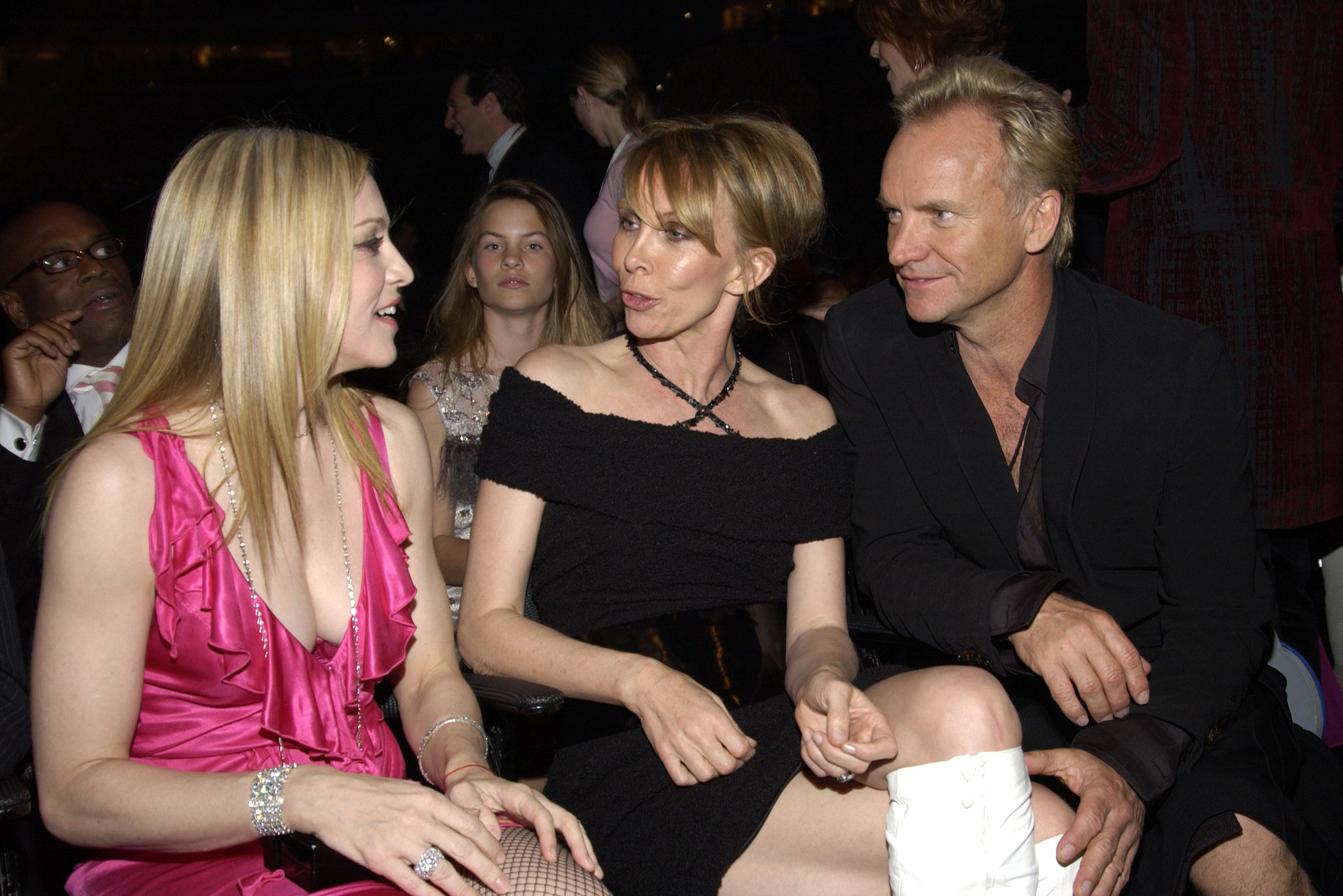 Sting and his wife, Trudie Styler, are godparents to Madonna's older son, Rocco Ritchie.