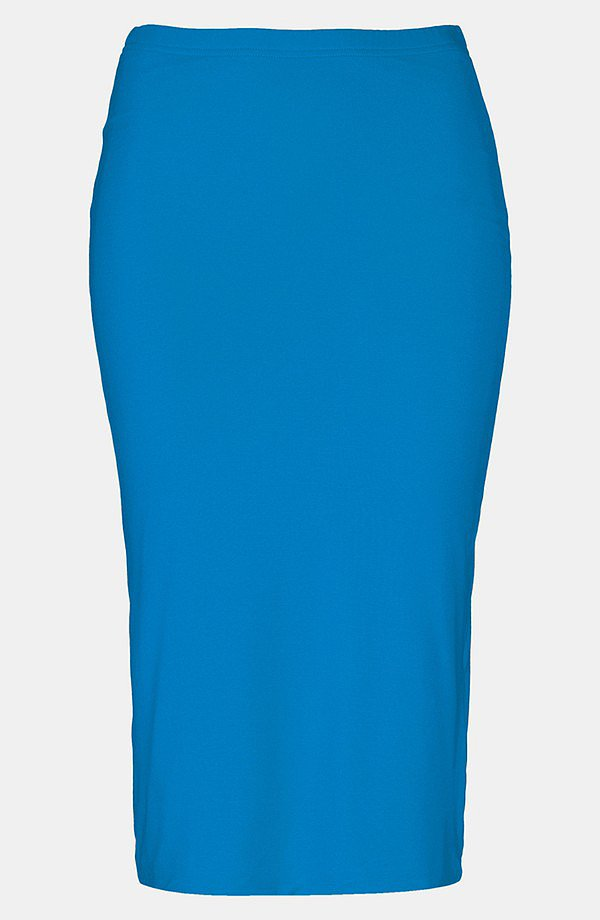 Inject some color into your work environment this Fall with a bright blue Topshop pencil skirt ($40).