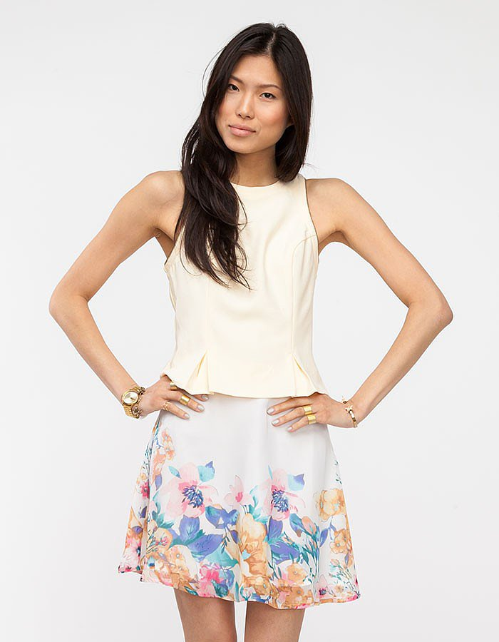 A polished blouse ($46) from Tropez, with just a hint of peplum, is a smart addition to any Fall work wardrobe.