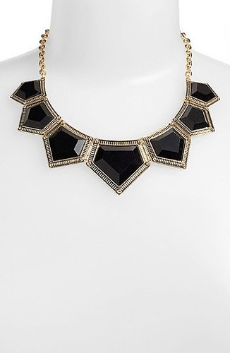 BP. Geometric Statement Necklace Black