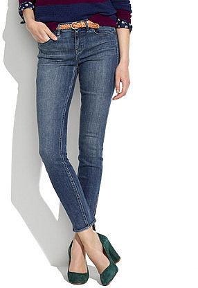 Skinny skinny ankle-zip jeans in pool wash