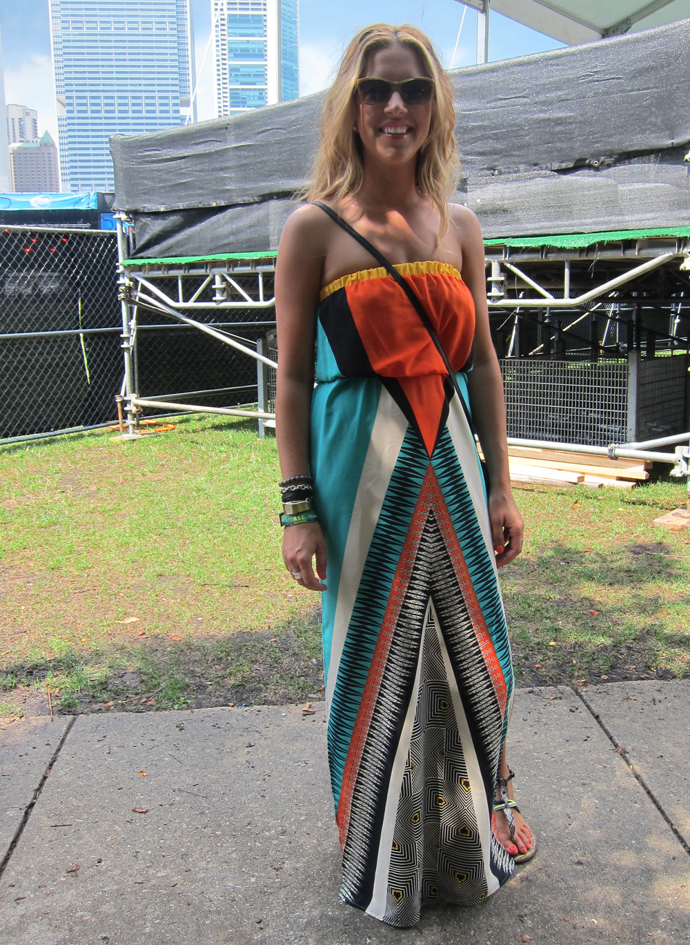 Behold the power of a maxi dress: Penny looked polished but was just as comfortable as her fellow festivalgoers.