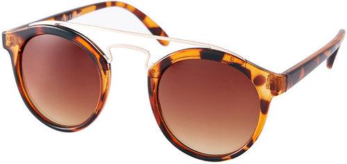 AJ Morgan Gold Bar Round Sunglasses