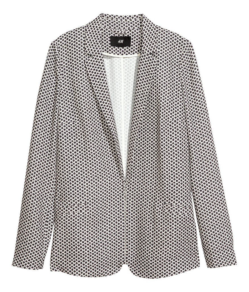 Addicted to a blazer for your work look? We fully support it, especially if you mix things up with a printed pick like this H&M style ($30).