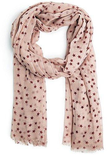 Stars print foulard