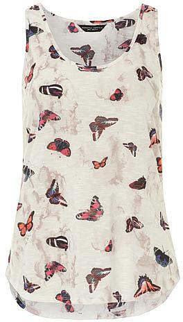 Butterfly print vest