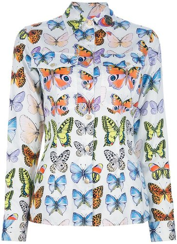 Versace Vintage butterfly print shirt