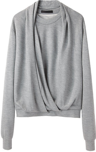 Alexander Wang / Draped Neck Sweatshirt