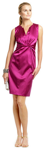Elie Tahari Raspberry Satin Twist Dress
