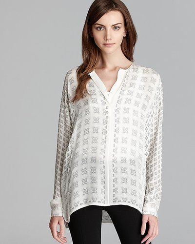 Vince Blouse - Wide Placket Silk
