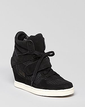 Ash Lace Up Wedge Sneakers - Cool Mesh