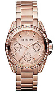 Michael Kors® Stainless Steel Shiny Rose Goldtone Finish