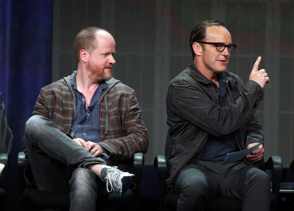 Joss Whedon and Clark Gregg participated in the panel discussion for Agents of S.H.I.E.L.D.