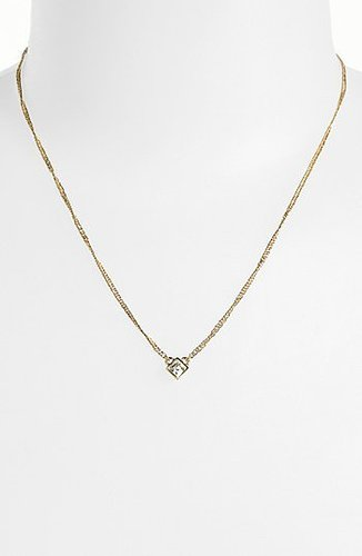 Givenchy Pendant Necklace Clear/ Gold