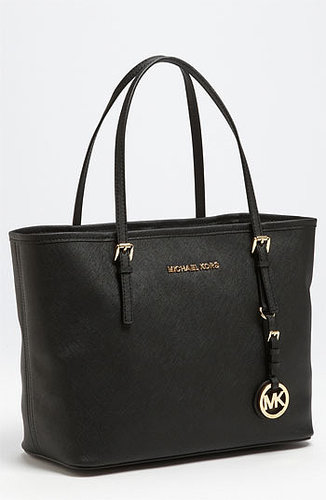 MICHAEL Michael Kors 'Jet Set - Small' Travel Tote Black