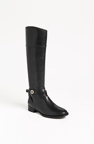 Tory Burch 'Brita' Riding Boot Womens Black Size 5 M 5 M