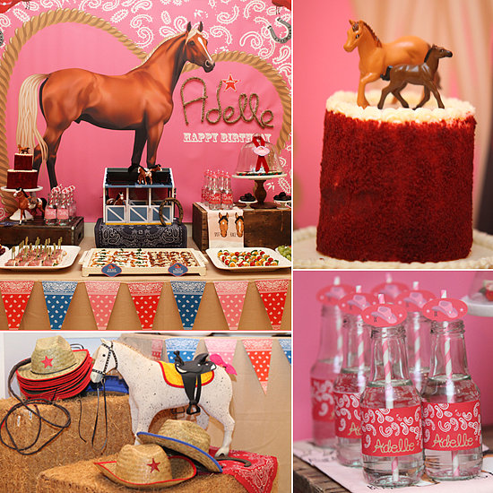 Cowgirl and horse birthday party popsugar moms for Animal decoration games for girls
