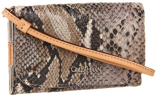 Cole Haan - Crosby Tech Snap Wallet (Punch Snake Print) - Bags and Luggage