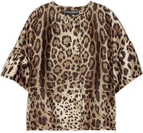 Dolce & Gabbana Leopard-print silk-twill jacket